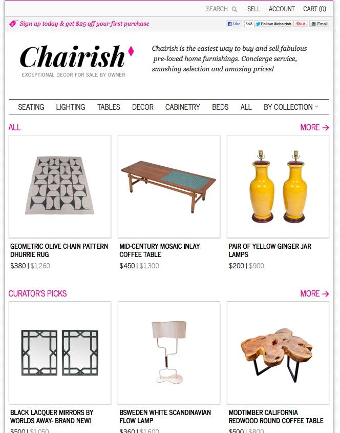 Chairish site